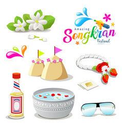 amazing thailand songkran festival collections vector image