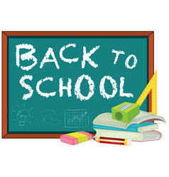 back to school template with stationary vector image