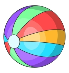 Ball icon cartoon style vector