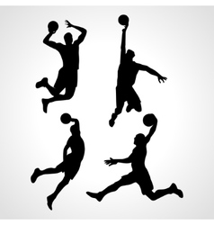 Basketball players collection vector