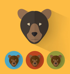 bear portrait with flat design vector image
