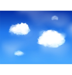 Blue sky and clouds landscape vector
