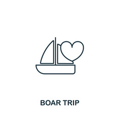 Boar trip outline icon premium style design from vector