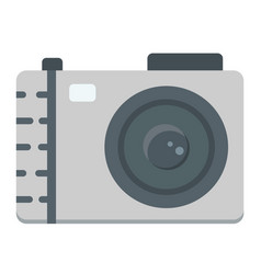 camera flat icon photo and capture vector image