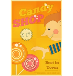 Candy shop boy vector