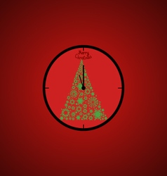 Christmas open Christmas clock vector