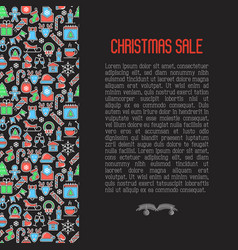 christmas sale concept with seamless pattern vector image