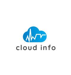 cloud logo cloud icon vector image