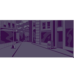 Comics Night City Street Scene vector image