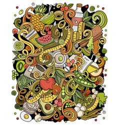 Diet food hand drawn doodles vector