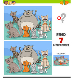 Differences game with funny cats group vector