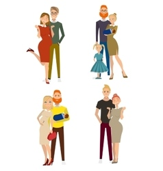 different kind of families vector image