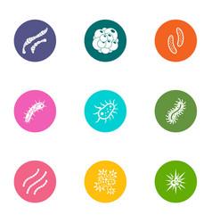Embryo icons set flat style vector