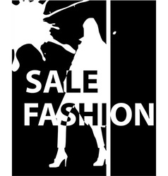 Fashion girl poster vector