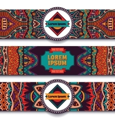 Festive colorful ornamental ethnic banner vector image