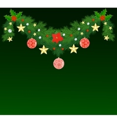 Fir Christmas garland vector