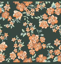 Floral seamless pattern abstract ornamental vector