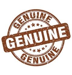 genuine brown grunge round vintage rubber stamp vector image