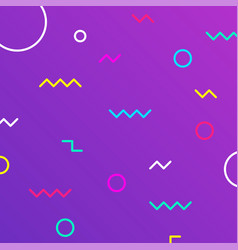 Geometric figures on gradient background colorful vector
