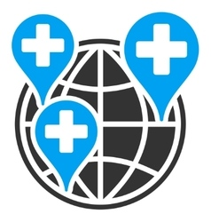 Global Clinic Company Icon vector image