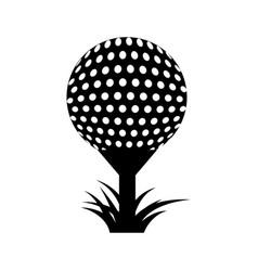 Golf sport ball icon vector
