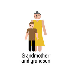 grandmother and grandson icon can be used for web vector image