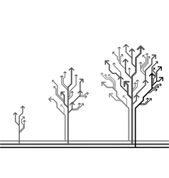 Growing arrow tree vector