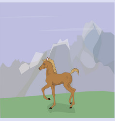 Horse standing in nature vector