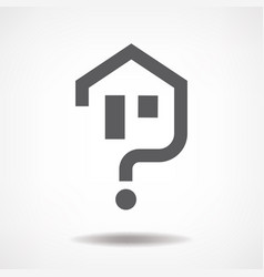 House question icon vector