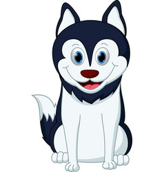 husky dog cartoon vector image