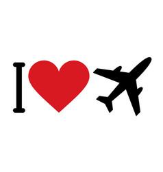 I love planes vector