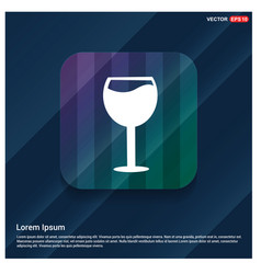 juice icon cocktail drink icon vector image