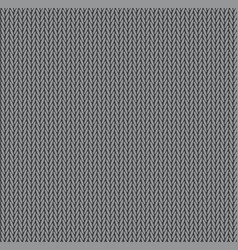 knit texture gray color seamless pattern fabric vector image
