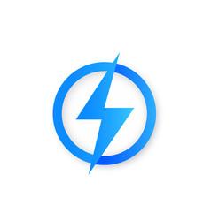 Lightning bolt logo or icon vector
