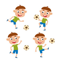 little blonde boys in shirt vector image