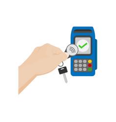 Nfc payment key fob vector