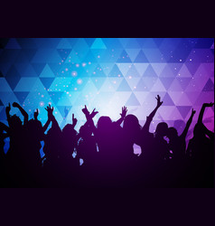 party young people crowd dancing background vector image