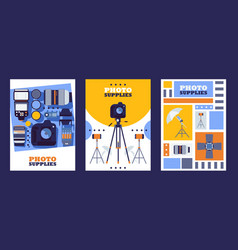 Photography equipment store banners vector