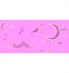 Pink dream of a dog vector