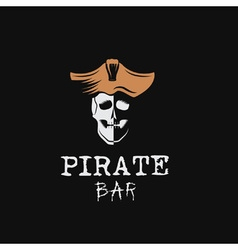 pirate bar vector image