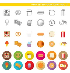 processed food icons 002 vector image