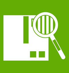 quality control icon green vector image