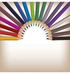 Realistic color pencils set vector image