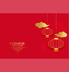 Red chinese background for new year time vector