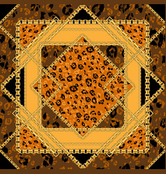 repeating leopard tile vector image