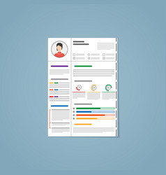 Resume flat style vector