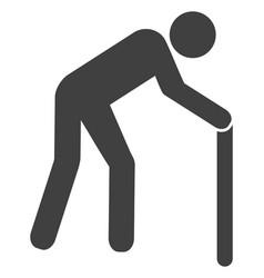 Retired person icon vector