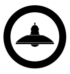 retro household lamp and floor lamp icon black vector image