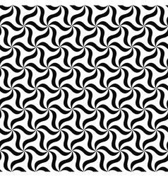 Seamless black white floral pattern vector