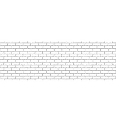 Seamless of white brick vector image